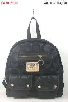 Coach Signature Multi Pocket Backpack Black
