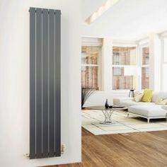 ACE Chrome 1600x376 Vertical Flat Panel Designer Radiator Central Heating
