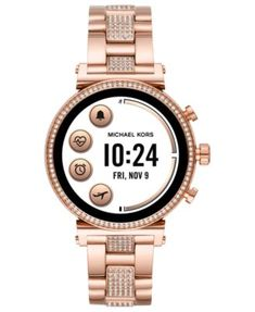 ad9d126e77c6 Michael Kors Access Women s Sofie Heart Rate Rose Gold-Tone Stainless Steel  Bracelet Touchscreen Smart