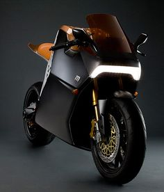 future. Electric motorcycle.