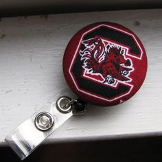 USC South Carolina University Gamecocks Retractable ID Badge Reel on Etsy, $6.00