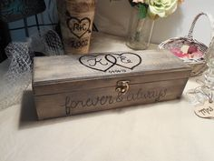 Beautiful Rustic Love Letter Wine Box  hand by AngisSouthernChic, $45.99