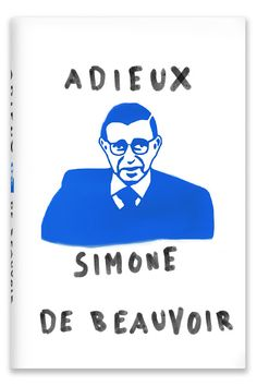 Similar to the other Mendelsun's Simone de Beauvoir covers, The illustration of the cover along with the typeface are very organic. The cover displays the image of philosopher Jean Paul Satre in a very simple manner. Not a lot of details are put into his image, just enough, so his face is recognizable.