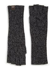 Need these for work! Hands are always cold. Ugg Marled Fingerless / Saks #forher