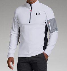 Under Armour Men's Tundrabloc Quarter Zip Long Sleeve Shirt - Dick's Sporting Goods Under Armour Sport, Under Armour Men, Golf Fashion, Sport Fashion, Men's Fashion, Mens Golf Outfit, Running Wear, Golf Shirts, Workout Wear