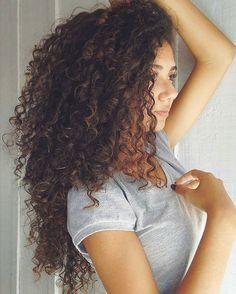 Curly hair is truly beautiful. This is actually similar to my hair only she has more layers.