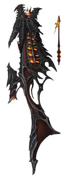 Hellfire Crossbow - Magic Items - Homebrew - D&D Beyond Fantasy Sword, Fantasy Armor, Fantasy Weapons, Dark Fantasy Art, Anime Weapons, Sci Fi Weapons, Weapon Concept Art, Armadura Medieval, Fantasy Setting