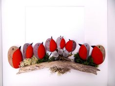 Supplies For Arts And Crafts Sea Glass Crafts, Sea Crafts, Bird Crafts, Sea Glass Art, Easy Flower Painting, Rock Painting Ideas Easy, Christmas Pebble Art, Christmas Art, Pebble Pictures