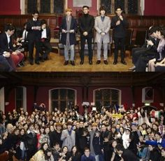 Super Junior's Eunhyuk, Kangin, Siwon, and Kyuhyun hold a special lecture at Oxford University | http://www.allkpop.com/article/2013/11/super-juniors-eunhyuk-kangin-siwon-and-kyuhyun-hold-a-special-lecture-at-oxford-university