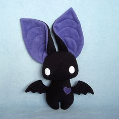 Dexter the Bat black and violet plushie I want to make this plushie so bad! This is the cutest stuffed animal I have ever seen. No contest.