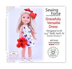 Best Photo Gracefully Versatile Dress PDF sewing pattern for inch dolls such as Wellie Wishers - instant d Suggestions A lot of frustration rather than Lust – is learning how to sew so very hard? I first tried to te Doll Shoe Patterns, Pdf Sewing Patterns, Clothing Patterns, Wellie Wishers, Doll Maker, Tulle Fabric, 18 Inch Doll, 1 Piece, Knitted Hats