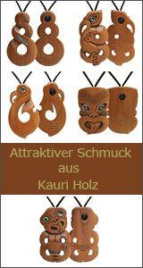 Kauri Holz Symbol Schmuck Anhänger
