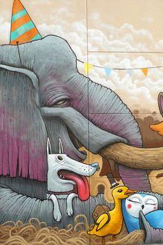 Animal friends – Le street art par DULK (image)