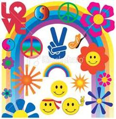Flower Power, Peace Signs, Smilie Faces