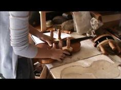 ▶ Repair of an old German Stradivarius violin # 803 - YouTube