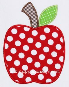apple appliqué for the first day of school/ fall- this site has cute appliques at reasonable prices