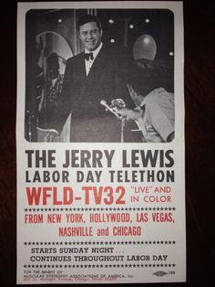Jerry Lewis Labor Day Telethon ………………..For more classic 60's and 70's pics please visit and like my Facebook Page at https://www.facebook.com/pages/Roberts-World/143408802354196