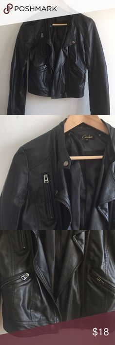 Leather Moto Jacket NWOT Faux Leather jacket NWOT Only selling because it doesn't go w/ my style Purchased at Foreign Exchange My loss your gain  ✨🌹✨ MAKE AN OFFER ✨🌹✨ Foreign Exchange Jackets & Coats