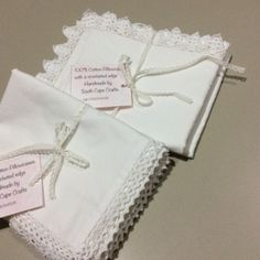 cotton percale pillowcases with crocheted edges