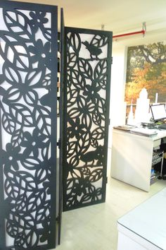 Biombo - Recorte especial em chapa de MDF com pintura e aplicação de dobradiças. Aqui sua ideia acontece!