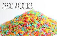 Como hacer arroz de colores  El arroz de colores lo utilizamos como material sensorial, en proyectos de arte o también para rellenar frascos de veo-veoo hacer botellitas sensoriales. A los niños les encanta la textura, logran horas de juego imaginativo y si lo hacemos colorido es aún ¡más divertido! Utilizamos una técnica diferente para teñirlos utilizando alcohol en lugar de vinagre como lo hicimos con nuestra pasta de colores. El resultado es fantástico, pues el alcohol permite que el…