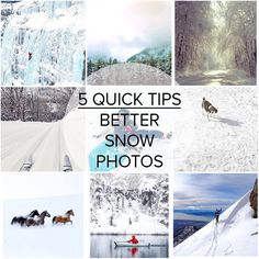 5 quick tips to improve your snow photography using a mobile device.