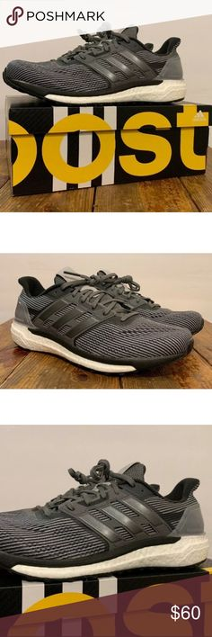 607021e3d Adidas Supernova Boosts. Space Gray Color Men s 11 New in Box. Adidas Boost  Technology