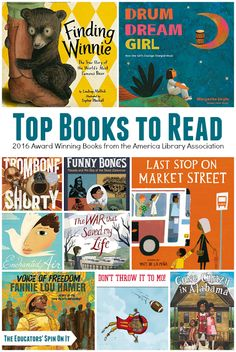 Top Books featured at 2016 Youth Media Awards. Did your favorite make the list?  Join the YMA Book Challenge this year with your child at the Educators' Spin On It