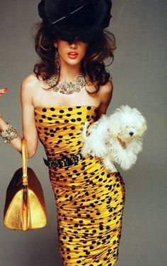 Amarillo, Giallo, Yellow.. Love  ;) vestido amarillo, lunares, sombrero