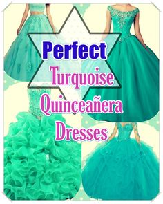 Suggestions for Picking out the Perfect Turquoise Quinceanera Dress. Probably the most vital aspect of a Quinceanera for a girl is her gown! Turquoise Quinceanera Dresses, Turquoise Dress, Looking For Women, Dress For You, Beautiful Day, Dress Patterns, Ball Gowns, Formal Dresses, Celebrities