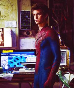 Andrew Garfield as Spiderman.