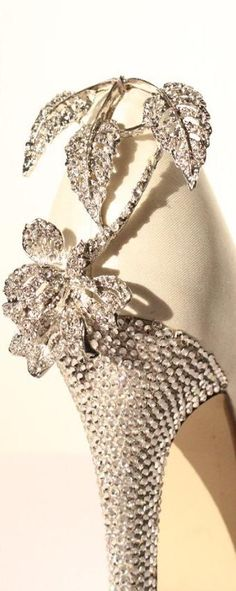 Bridal Shoes Diamante details