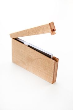 Wood business card case. For the men...or for me.