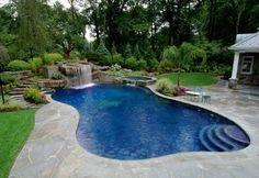 backyard designs with unusual swimming pools