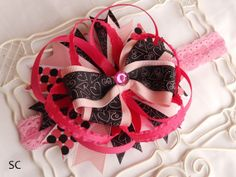 Valentines Day Baby Headband Stacked Boutique by SanteenCreations, $7.50 #valentineheadband #valentine #girlygirl