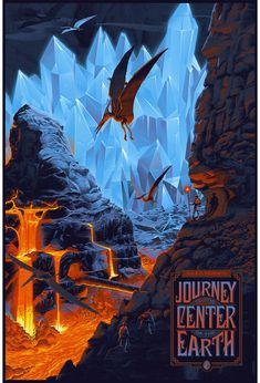 Alternative movie poster for Journey to the Center of the Earth by Laurent Durieux