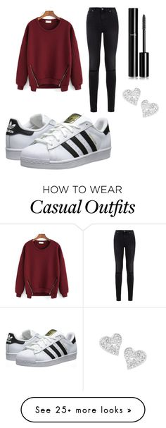 """Casual"" by teagenr on Polyvore featuring 7 For All Mankind, adidas Originals, Chanel and Vivienne Westwood"