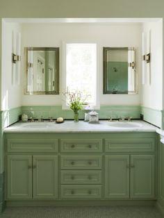 48 inch double sink vanity Bathroom Traditional with 2 sinks bathroom California Coddington Design girly