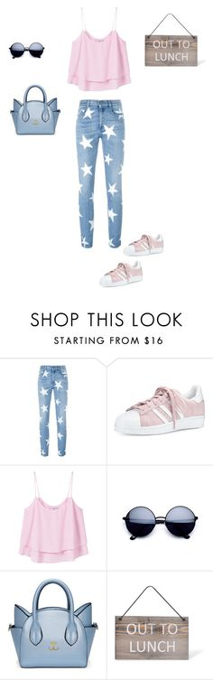 """""""Out"""" by francy78 on Polyvore featuring moda, STELLA McCARTNEY, adidas, MANGO e Garden Trading"""