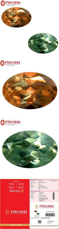 Alexandrite 10190: 0.57 Ct Pgtl Certified (6 X 4 Mm) Change From To Purplish Grey Alexandrite -> BUY IT NOW ONLY: $229.99 on eBay!