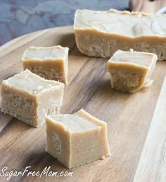 3 Ingredient Peanut Butter Fudge made low carb, sugar free and dairy free!