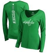 #Valentines #AdoreWe #Shop.NHL.com - #Fanatics Branded Women's Washington Capitals Alexander Ovechkin Fanatics Branded Kelly Green St. Patrick's Day Backer Name & Number Slim Fit Long Sleeve T-Shirt - AdoreWe.com