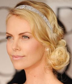 80 And More Updo Hairstyles For 2014: Charlize Theron Updos  #updos #hairstyles #updohairstyles