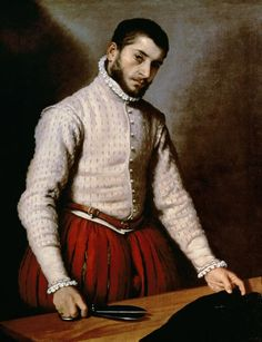 """Portrait of a Man"" by Giovanni Battista Moroni"" (C16)"