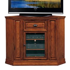 Leick Furniture Boulder Creek Corner TV Stand, Brown