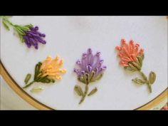 Wonderful Ribbon Embroidery Flowers by Hand Ideas. Enchanting Ribbon Embroidery Flowers by Hand Ideas. Basic Embroidery Stitches, Hand Embroidery Videos, Learn Embroidery, Japanese Embroidery, Silk Ribbon Embroidery, Embroidery For Beginners, Hand Embroidery Patterns, Embroidery Techniques, Cross Stitch Embroidery