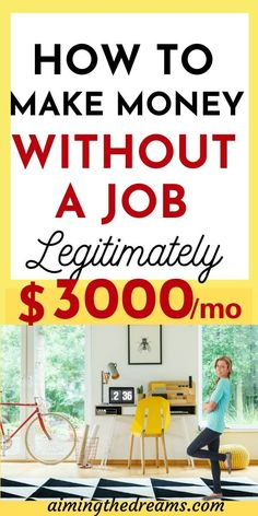 How to make money without a job legitimately. These ideas will help you find your best side hustle idea to make money online and work from home. Discover and Apply SUCCESSFUL online MONEY MAKING MODEL and get full support for your PROFIT Cash From Home, Earn Money From Home, Way To Make Money, Make Money Online, Money Fast, Work From Home Business, Online Work From Home, Work From Home Jobs, Successful Business
