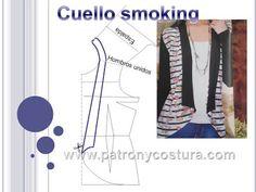 Cuello smoking diy.Tema 178 Manga Raglan, Pattern Design, Sewing Patterns, Kimono, Blazer, Blog, Clothes, Diy, Annie