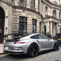 Porsche 991 GT3 RS painted in GT Silver Metallic   Photo taken by: @henryjmw on Instagram