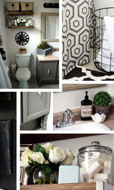 Industrial Glam Bathroom Reveal: Courtesy of: http://akadesign.ca/vintage-industrial-glam-bathroom-reveal/ #BathroomDecor